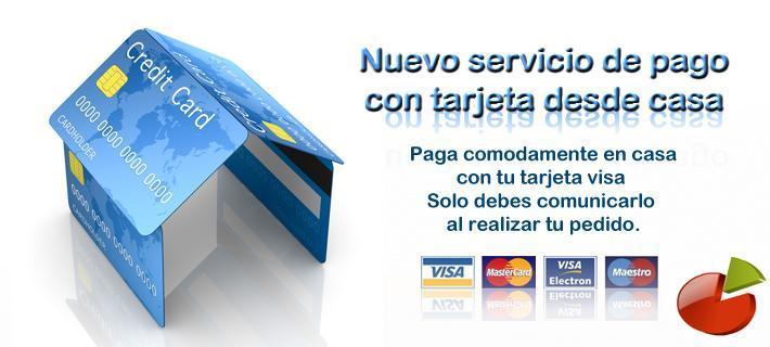 Paga con tarjeta o en efectivo