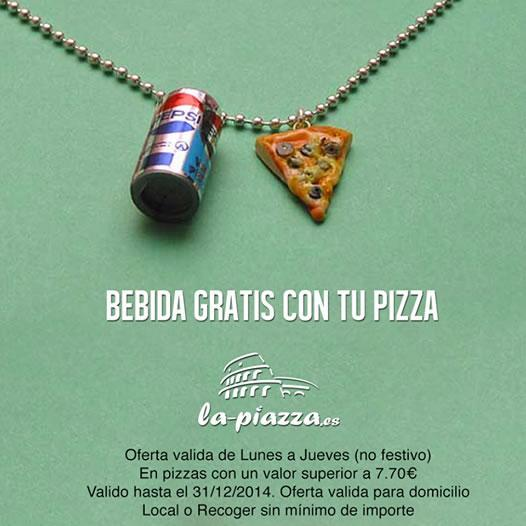 Bebida gratis con tu pizza
